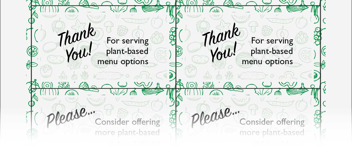 Plant-Based Restaurant Cards